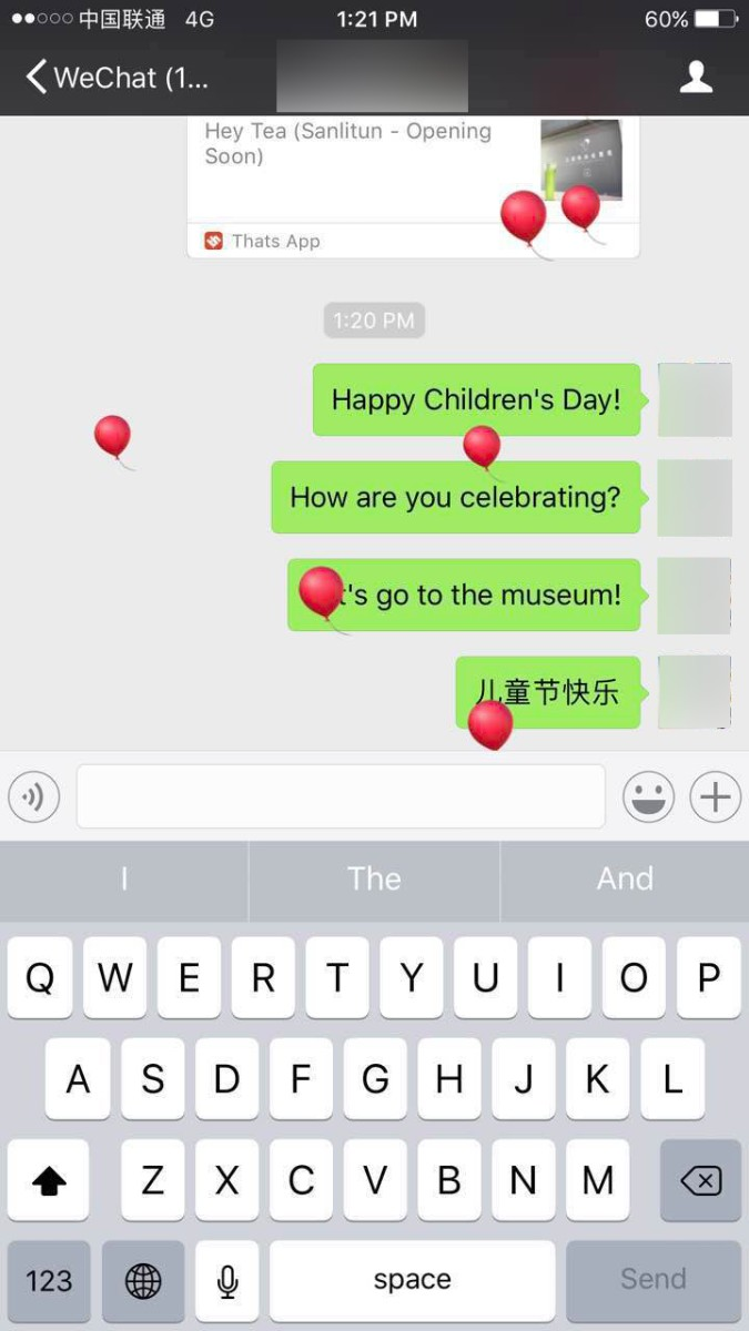 Send Children's Day Greeting WeChat