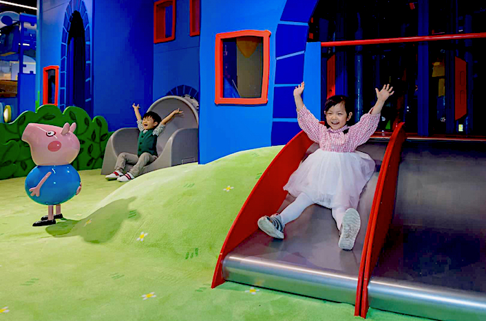 dda936b51e5d The new Peppa Pig World has finally opened inside the LCM Mall in Pudong,  and families are already attending in droves to have a 'muddy fun' time.