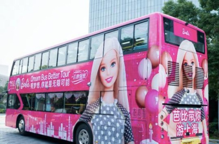 Barbie-Themed 'Dream Bus' Hits Shanghai streets